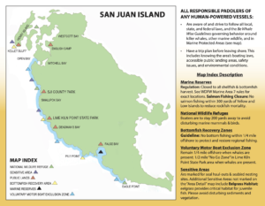 San Juan Island Guidelines map