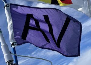 """Authorized Vessel """"AV"""" Flag"""